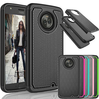 For Motorola Moto X4 / Moto X 4th Gen Shockproof Slim Rubber Hard Case Cover
