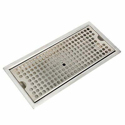 """12"""" Stainless Steel Flush Mount Drip Tray with Drain"""