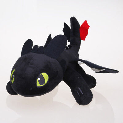 Cotton How To Train Your Dragon Toothless Plush Stuffed Toy Soft Warm Doll 23cm^