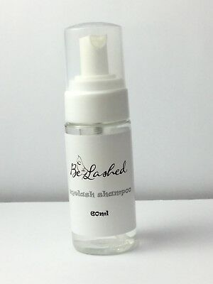EYELASH EXTENSION FOAMING SHAMPOO, FOAM CLEANSER, LASH SHAMPOO 60ml