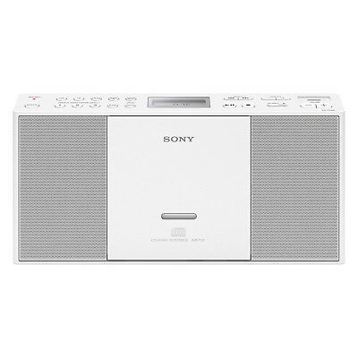 Sony Zs-Pe60 Cd Boombox With Usb Mp3 Wma Cd-R/rw Playback Am/fm - White