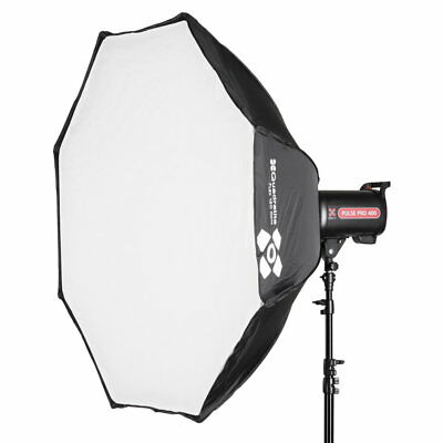 Quadralite SOFTBOX FLASH OTTAGONALE 120cm FLEX ATTACCO BOWENS APERTURA RAPIDA