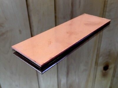 "1/8 COPPER SHEET PLATE NEW 2""X6"" .125 Thick *CUSTOM 1/8 SIZES AVAILABLE*"