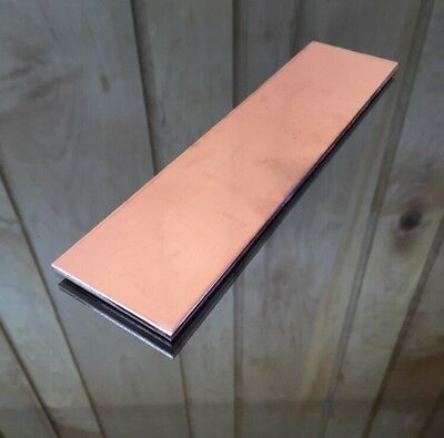 "1/8"" COPPER SHEET PLATE NEW 2""x8"" .125 THICK *CUSTOM 1/8 SIZES AVAILABLE*"
