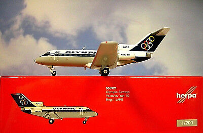 Herpa Wings 1:200  Yakovlev Yak-40  Olympic Airways I-JAKE  558921