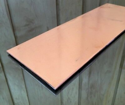 "1/8"" COPPER SHEET PLATE NEW 4""x12"" .125 THICK *CUSTOM 1/8 SIZES AVAILABLE*"