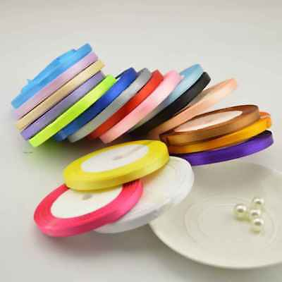 DIY 6mm Polyester Ribbon Decoration for Sewing Wedding Party Handmade Multicolor
