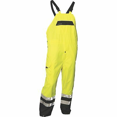 ML Kishigo Men's Class E High Visibility Rain Bib Overalls - Lime, L/XL