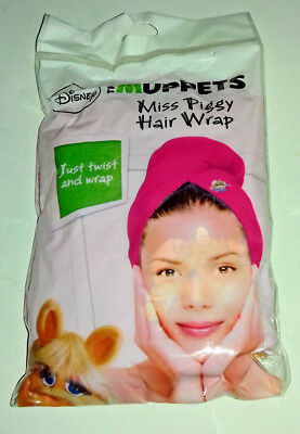 HAIR WRAP MISS PIGGY PINK with MISS PIGGY IMAGE AT FRONT JUST TWIST& WRAP SHOWER