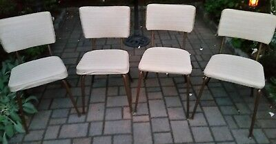 Vintage DAYSTROM Kitchen Dinette Chairs Set Of 4 / circa 1950s / HAPPY DAYS feel