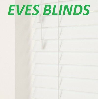 Made To Measure Waterproof Faux Wood 35Mm  White Venetian Blind Child Safe