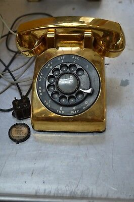 Vtg Western Electric G1 500 C/D 10-59 Bell System GOLD Rotary Dial Desk Phone
