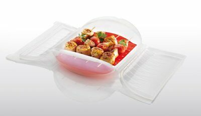 Lekue 1400 ml Steam Case with Draining Tray for 3 to 4 Person, Clear