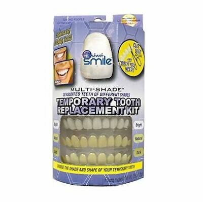 Instant Smile Temporary Tooth Kit DELUXE 3 SHADES of Temporary Teeth Included