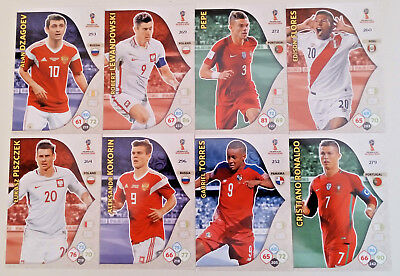 Adrenalyn XL FIFA World Cup 2018 Russia Panini Cards # 241-300