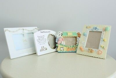Photo Picture Frame LOT Baby Nursery Faith First Communion Gift Incl 4 Frames