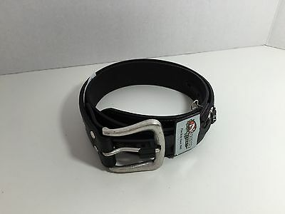 Nocona Black Leather Belt W/Pewter Buckle Size 32 New With Tags Kj090716