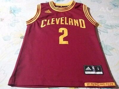 e6ae9bf4aa53 KYRIE IRVING  2 Cleveland Cavaliers Adidas Jersey Size Youth S Nba ...