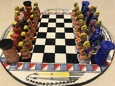 Peruvian chess set