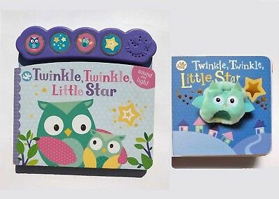 Twinkle Twinkle Little Star Puppet & Sound Books, For Children Age 0 Month+, New