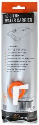 Milestone Camping Roll Up Water Carrier - Transparent, 10 Litres