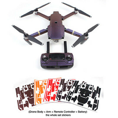 For DJI Mavic Pro Carbon Fiber Cover Sticker Body+Remote Controller Skin Decals