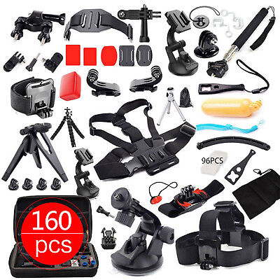 Accessories Pack Case Head Chest Monopod Mount Kit GoPro Hero Camera 7 6 5 4 3 2