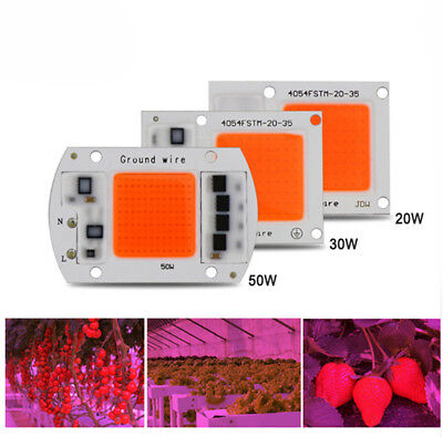 AC 220V 20w 30w 50w cob led grow light chip full spectrum 380nm-840nm for Indoor