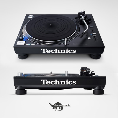 Technics Logo Decal Sticker Set - SL-1200 / SL-1210 Turntable - Various Colours
