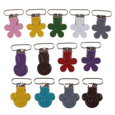 Baby Suspender Flower Soother Pacifiers Holder Dummy Clips Hook Monkey Rabbit HC