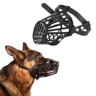 Adjustable Basket Mouth Muzzle Cover for Dog Training Bark Bite Chew Control