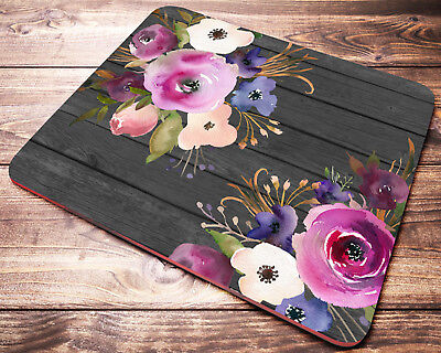 Watercolor FLORAL Mouse Pad Office Desk Accessories Coworker Gifts Womens Gift