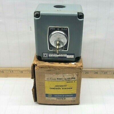 New Square D Security Control Station Key Open/Close Switch 9001 Ky-198