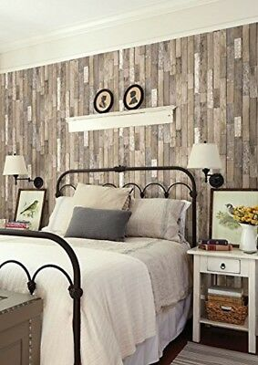 "Wood Design Wallpaper Murals Home Kitchen Bathroom Decoration 20.5"" x 33ft/Roll"