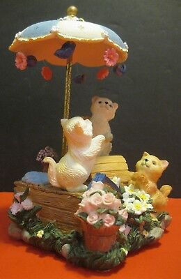 Cats / Kittens Playing SAN FRANCISCO MUSIC BOX FIGURINE ~ exquisite!