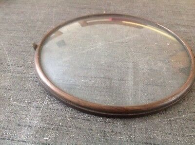 Antique Clock Brass Bezel Door & Convex Glass Outer Dia 156mm Glass Approx 150mm