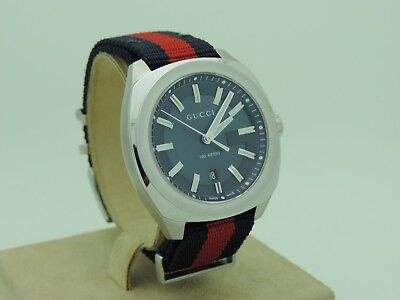 ad9ad3983ba GUCCI GG2570 SS Red-Blue Nylon Band Watch -  700.00