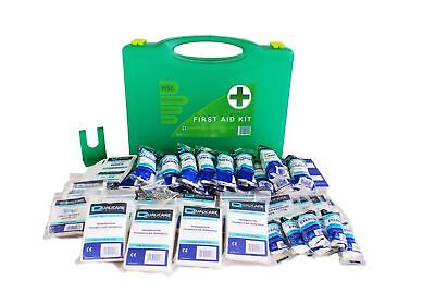 126 Piece First Aid Kit /Box - HSE Compliant 1-50 Persons for Office / Warehouse