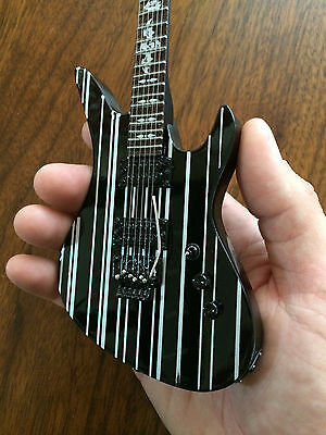 Avenged Sevenfold Synyster Gates Sustainiac Mini Guitar Black w/ Silver Stripes