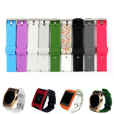 22mm Sports Silicone Watch Band Strap Bracelet For Pebble Time/Steel Smart Watch