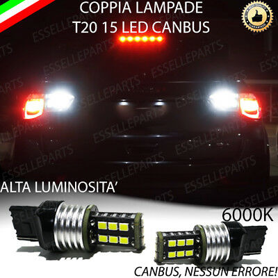 Coppia Luci Retromarcia 15 Led T20 Canbus Jeep Compass Mp 6000K No Error