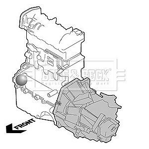 FORD FUSION 1.4D Engine Mount 02 to 05 Mounting B&B 1146866 Quality Replacement