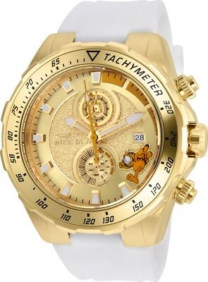 Invicta 25159 Character Collection Men's 49mm Chrono Gold-Tone Steel Gold Dial