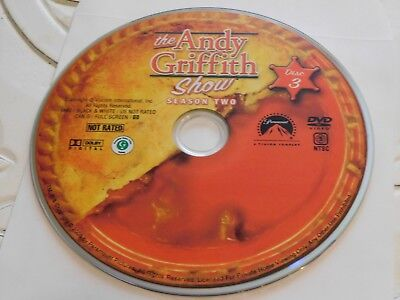 The Andy Griffth Second Season 2 Disc 3 DVD Disc Only 35-24