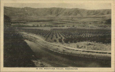 Scenes Along Great Northern GN RR Train c1920s Postcard - Wenatchee Valley WA