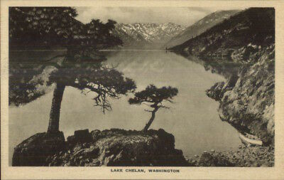 Scenes Along Great Northern GN RR Train c1920s Postcard Lake Chelan WA