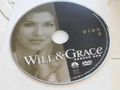 Will & Grace First Season 1 Disc 2 DVD Disc Only 35-59