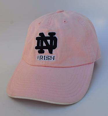 University Of Notre Dame ND Fighting Irish One Size Pink Dad Hat Baseball Cap