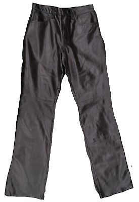 "REAL 100% GENUINE ITALIAN LEATHER MEN'S PANTS ""HIGH QUALITY"" fast shipping"