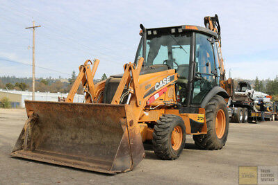 2012 Case 580N Loader Backhoe 2100Hrs 4X4 Mp Bucket E-Stick Aux Hydraulics Cab